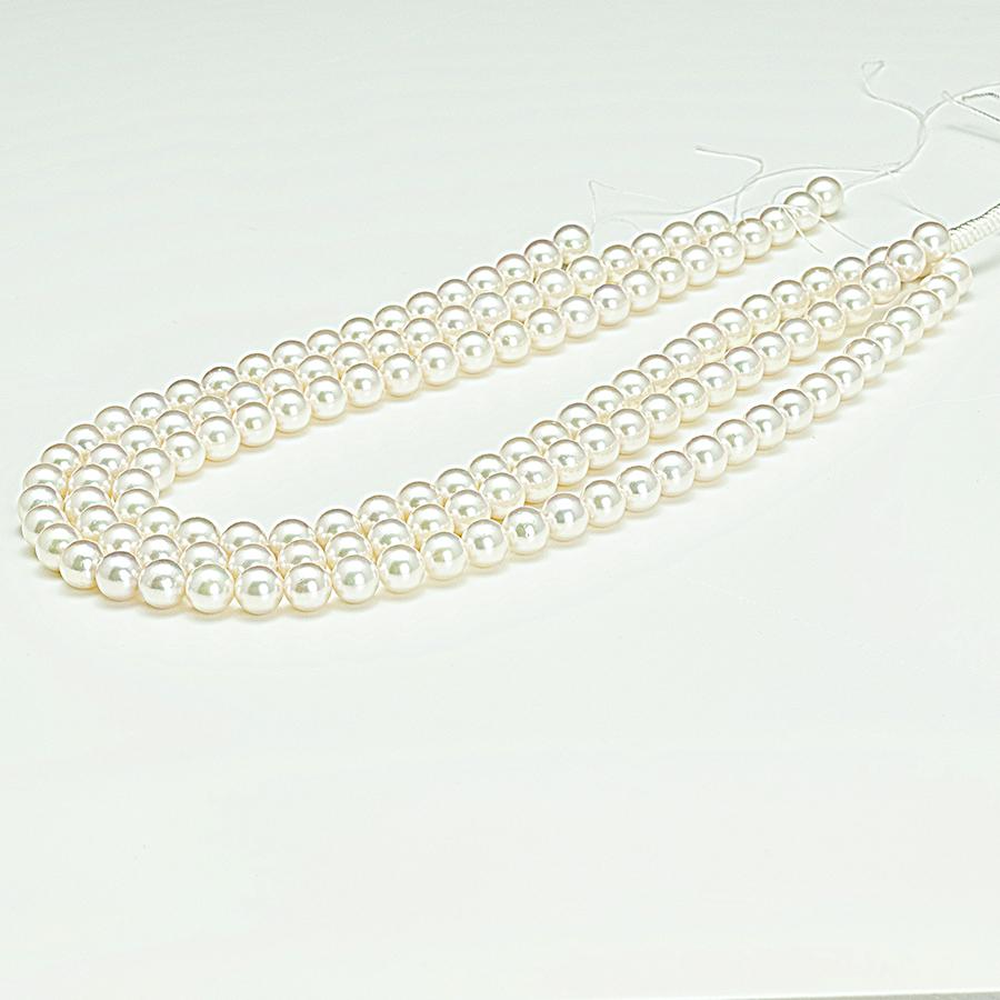 ネックレス・あこや本真珠8.5mmホワイトピンク・クラスプシルバー加工・長さ42cm冠婚葬祭に最適
