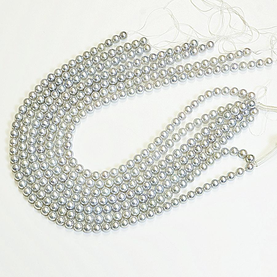 ネックレス・あこや本真珠7.5mmナチュラル系・クラスプシルバー加工・長さ42cm冠婚葬祭に最適