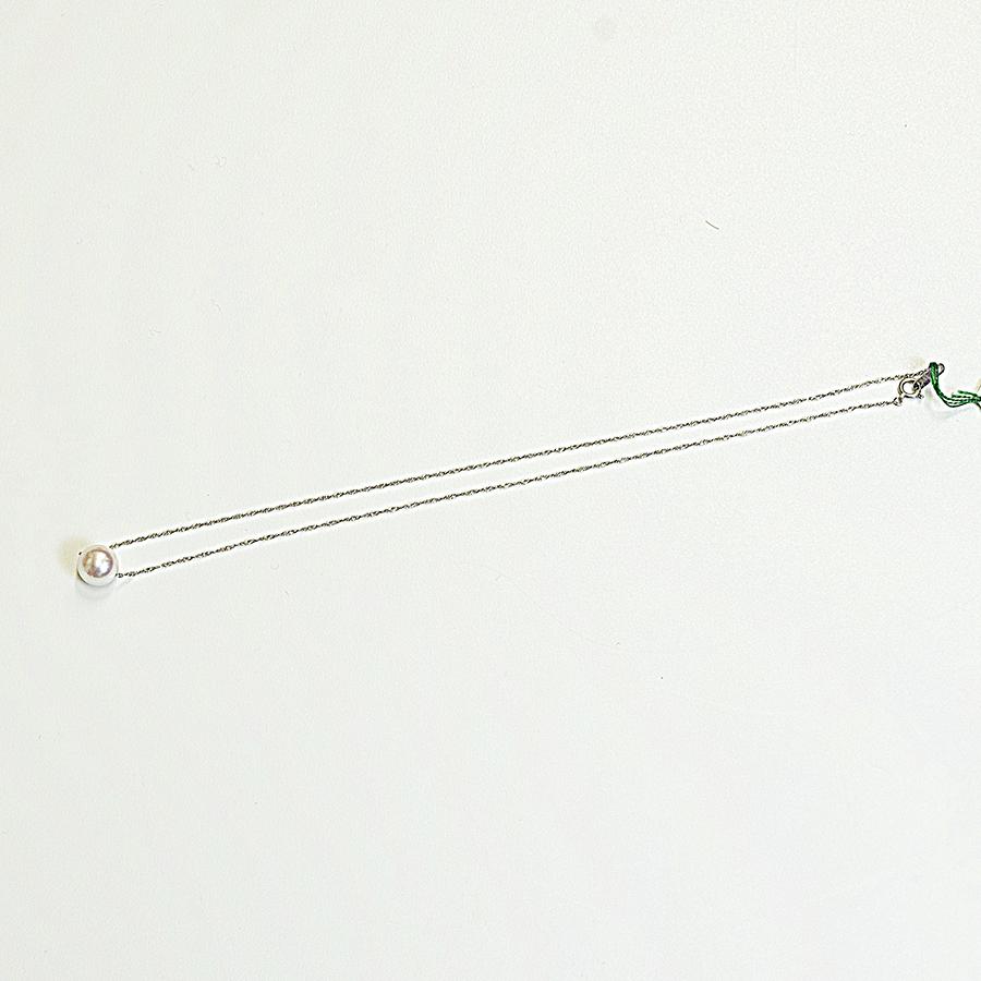 ネックレス・あこや本真珠9.0mm・ホワイトピンク・K18ホワイトゴールドスクリューチェーンネックレス・長さ40cm入学式・卒業式フォーマルに最適