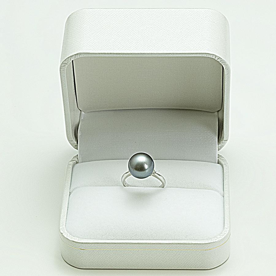 大特価1点物!!リング・タヒチ真珠11.5mm PT900・メレダイヤ入り・リングサイズ13号